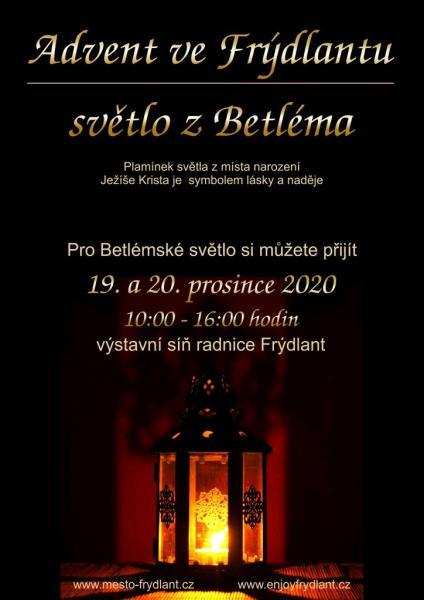 Advent ve Frýdlantu světlo, obrázek se otevře v novém okně