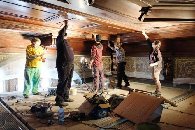 strop obřadní síň 1